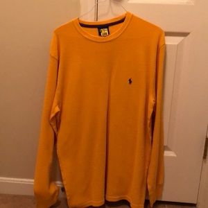 Long sleeve polo thermal